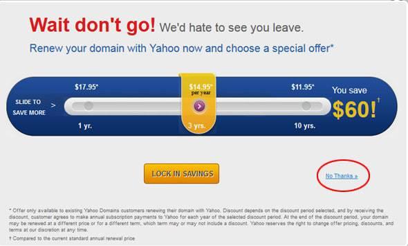 Click No thanks khi hiển thị quảng cáo