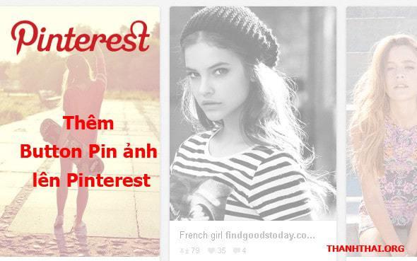 Hướng dẫn thêm button Pin ảnh lên Pinterest vào website Wordpress