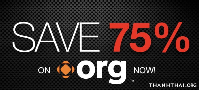 Domain.com giảm giá 75% cho tên miền .org