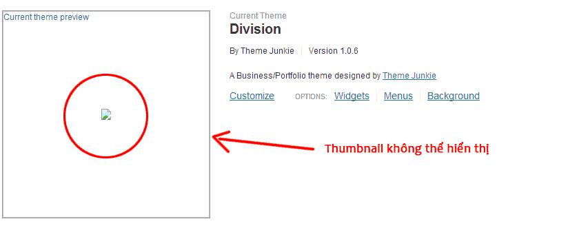 Thumbnai không hiển thị