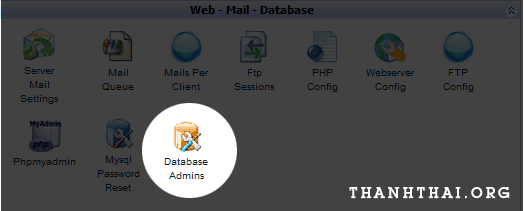 Chọn Database Admins để đổi password
