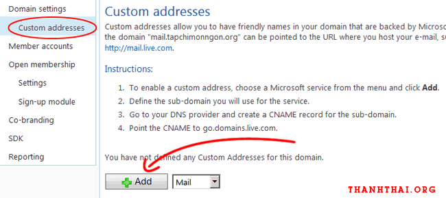 Thay đổi đường dẫn đăng nhập vào email