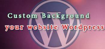 Tùy chọn background cho website wordpress