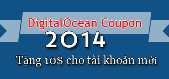 DigitalOcean coupon 2014