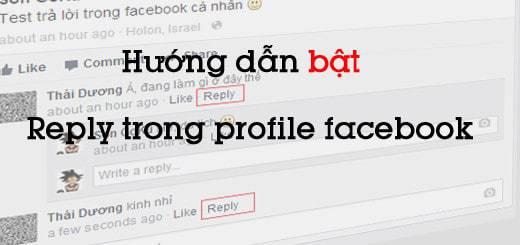 Hướng dẫn bật reply trong facebook cá nhân