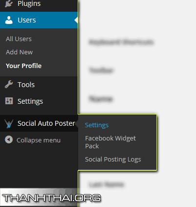 Cài đặt Social auto poster