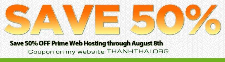 A2 Hosting giảm giá 50% tháng 8/2014