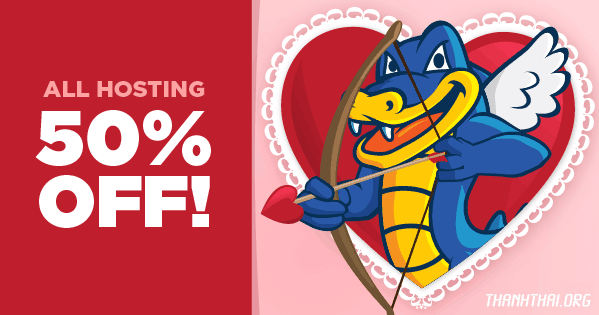 hostgator coupon valentine sale 50%