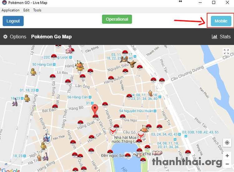 Bản đồ Pokemon Go ở Hà Nội