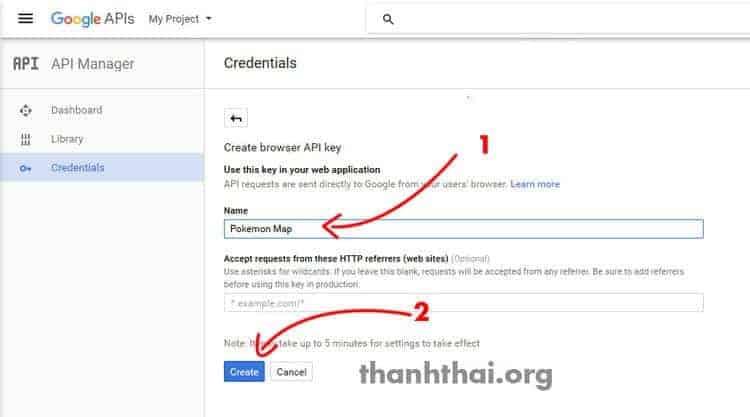 Hướng dẫn tạo google map api key