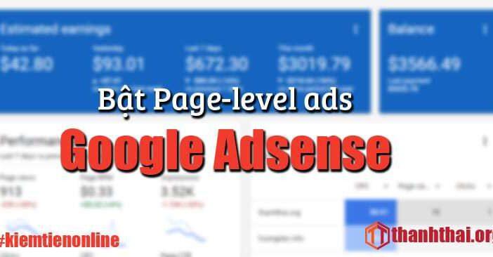 Bật Page-level-ads cho Google Adsense