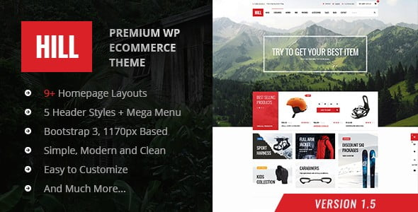 Download HILL - Premium Responsive WooCommerce Theme FREE